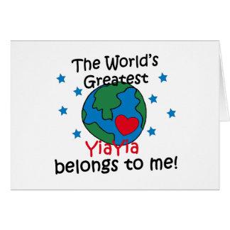 Best YiaYia Belongs to me Card