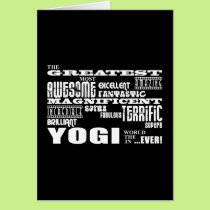 Best Yogis Yoga Birthdays : Greatest Yogi Card