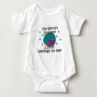 Best Zayde Belongs to me Baby Bodysuit