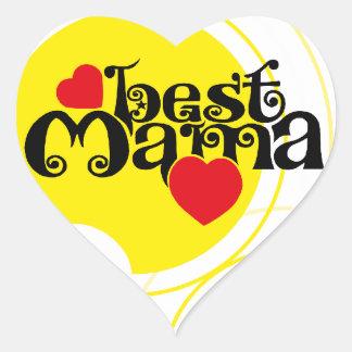 Beste Mama Aufkleber Herzen Heart Sticker
