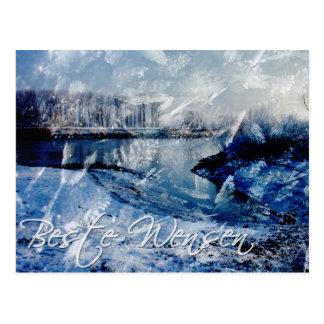 beste wensen ondergesneeuwd post cards