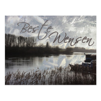 beste wensen rustieke waters postcard
