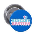 BESTEST BESTIES with cute hearts BFF best friends Button