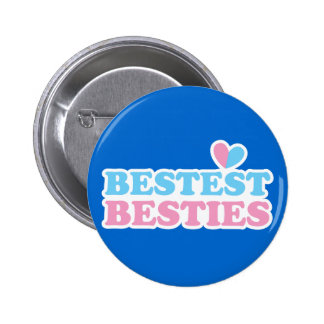 BESTEST BESTIES with cute hearts BFF best friends Button