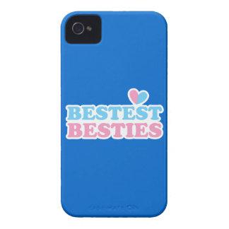 BESTEST BESTIES with cute hearts BFF best friends iPhone 4 Case-Mate Case