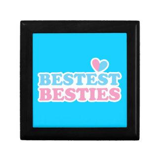 BESTEST BESTIES with cute hearts BFF best friends Jewelry Box