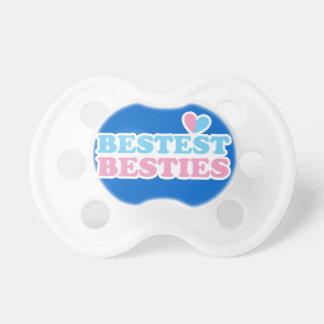 BESTEST BESTIES with cute hearts BFF best friends Pacifier