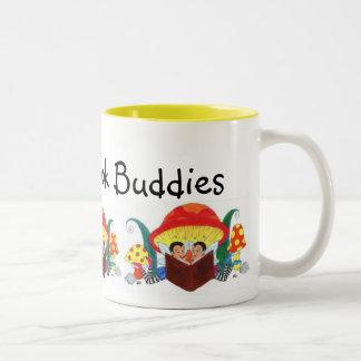 Bestest Book Buddies Ever! Two-Tone Coffee Mug