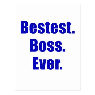 Bestest Boss nunca Tarjeta Postal