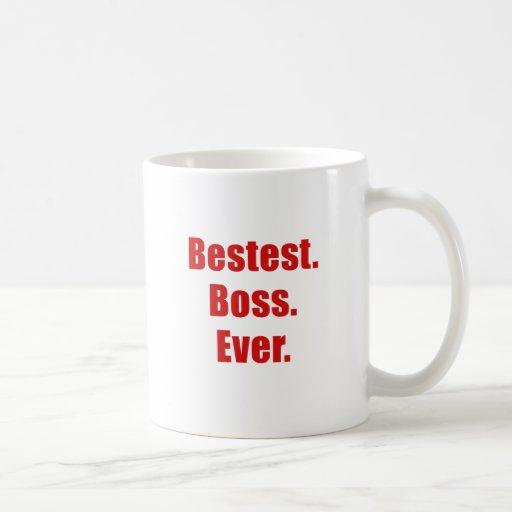 Bestest Boss nunca Tazas