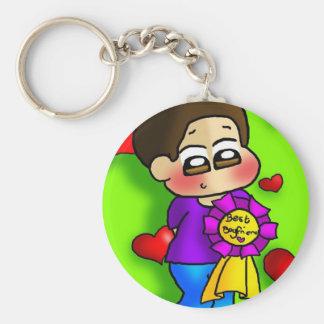 Bestest Boyfriend Basic Round Button Keychain