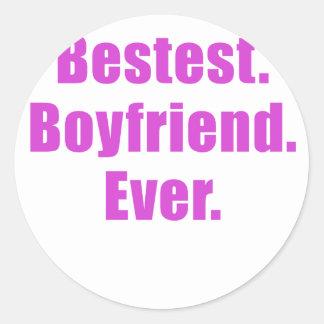 Bestest Boyfriend Ever Classic Round Sticker