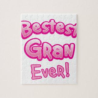 BESTEST gran EVER grandmother granny Jigsaw Puzzle