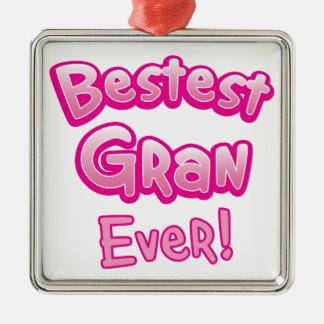 BESTEST gran EVER grandmother granny Metal Ornament