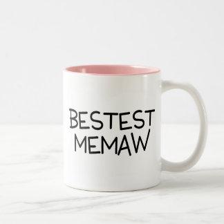 Bestest Memaw Two-Tone Coffee Mug