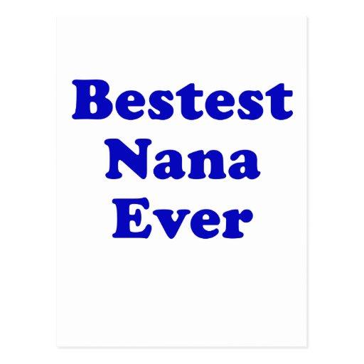 Bestest Nana Ever Post Cards