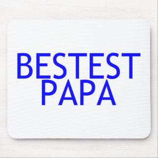 Bestest Papa Blue Mouse Pad