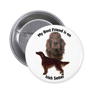 BestFriend Irish Setter Pinback Button