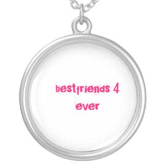 bestfriends round pendant necklace