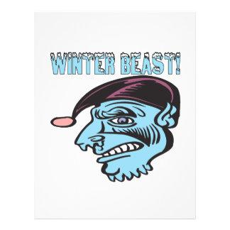 Bestia 2 del invierno tarjetas informativas