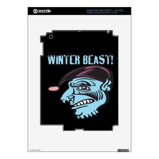 Bestia 2 del invierno pegatinas skins para iPad 3