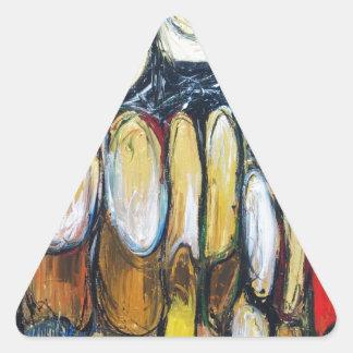 Bestia abstracta de la apocalipsis (animal pegatina triangular