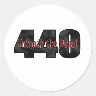 Bestia de 440 Mopar Pegatinas Redondas