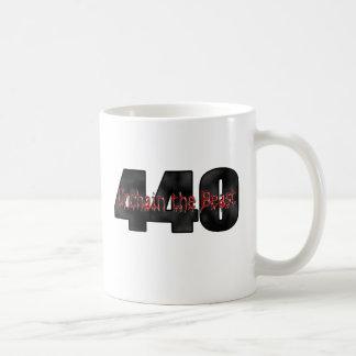 Bestia de 440 Mopar Taza Básica Blanca