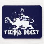 Bestia de Techno Tapetes De Ratones