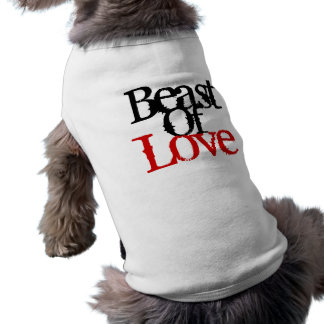 Bestia del amor 05.07.09 playera sin mangas para perro