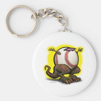 Bestia del béisbol llavero redondo tipo pin