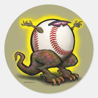 Bestia del béisbol pegatina redonda