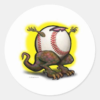Bestia del béisbol etiquetas redondas