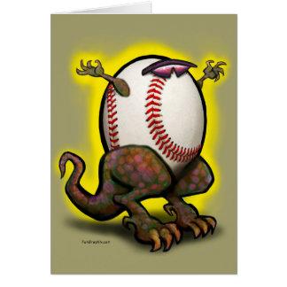Bestia del béisbol tarjeta de felicitación