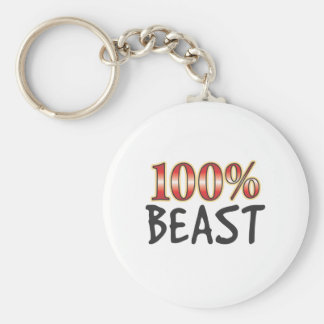 Bestia el 100 por ciento llavero redondo tipo pin