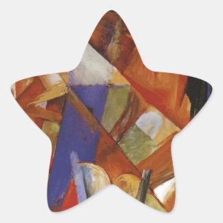 Bestia fabulosa II de Franz Marc Pegatina En Forma De Estrella