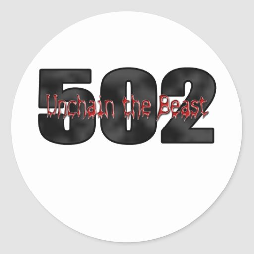 Bestia grande 502 del bloque pegatina