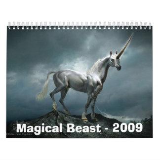 Bestia mágica -2009 calendarios de pared