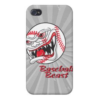 bestia mala enojada del vaseball del béisbol iPhone 4/4S fundas
