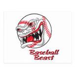 bestia mala enojada del vaseball del béisbol postal