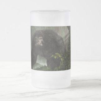 Bestia melenuda taza de cristal