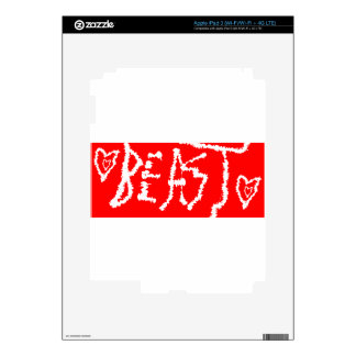 Bestia Pegatina Skin Para iPad 3
