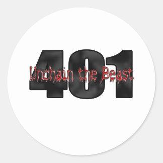Bestia salvaje de 401 Nailhead Buick Pegatina Redonda
