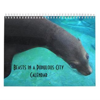 Bestias en una ciudad populosa - calendario