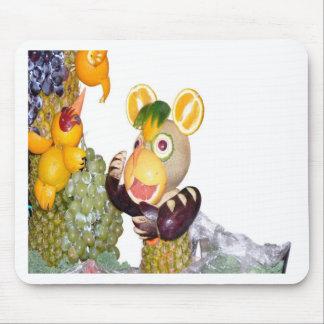 bestias talladas de la fruta que cantan el ratón alfombrilla de ratón