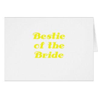 Bestie de la novia tarjeta de felicitación