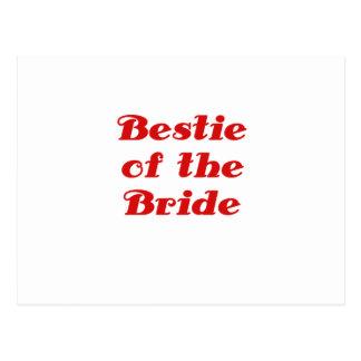 Bestie de la novia tarjetas postales