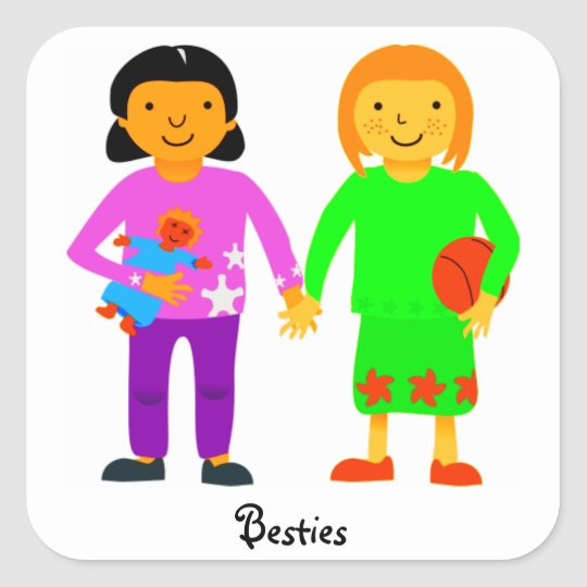 Bestie Friendship Stickers. Square Sticker