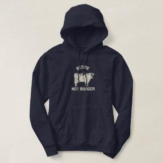 Bestie Not Burer Hooded Sweatshirt for Vegetarians