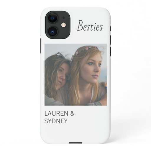 Bestie White Friends Photo Custom iPhone 11 Case